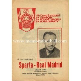 Sparta Prague vs Real Madrid 1968