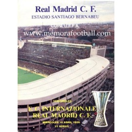 Real Madrid vs Internationale 1986 Copa UEFA