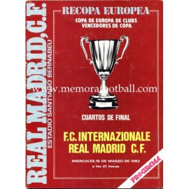 Real Madrid vs Internationale 1983 UEFA Cup Winners' Cup