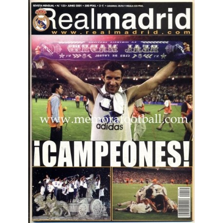 Real Madrid CF magazine, June 2001