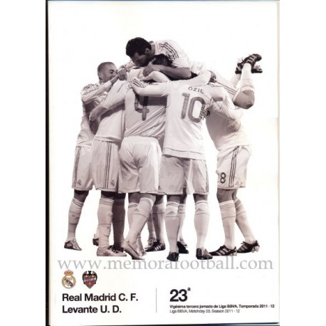 Real Madrid vs Levante Spanish League 2011-2012