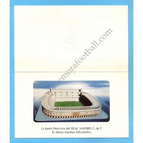 Real Madrid, 1980s Christmas card