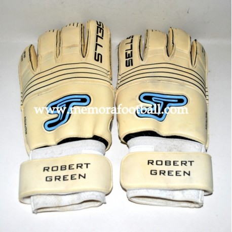 """""""ROBERT GREEN"""" 2008-09 match gloves"""
