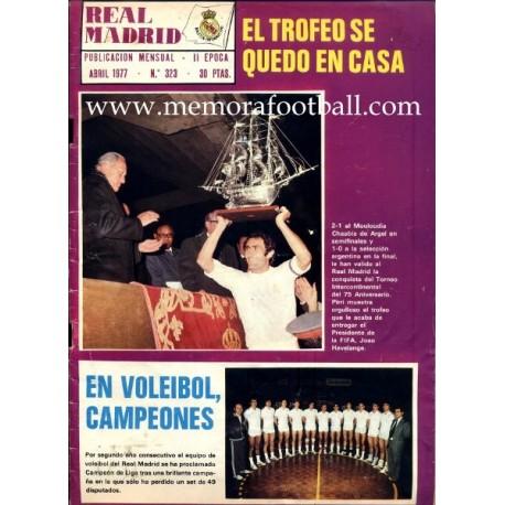 Boletín Real Madrid 75th Anniversary 1977