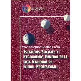 Estatutos sociales y Reglamento de la LFP. 1998
