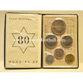 Colección completa de monedas conmemorativas del Mundial de España 1982