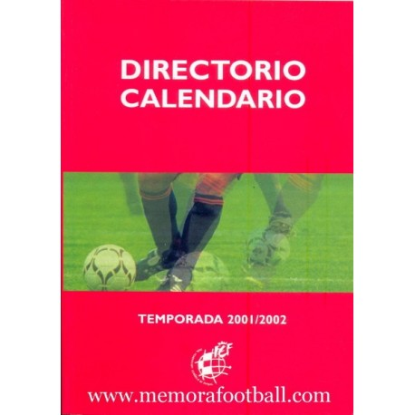 Directory - Calendar Spanish League 2001/2002