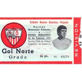 """Sevilla CF vs Rumanía - """"Homenaje a Pedro Berruezo"""" 1973"""