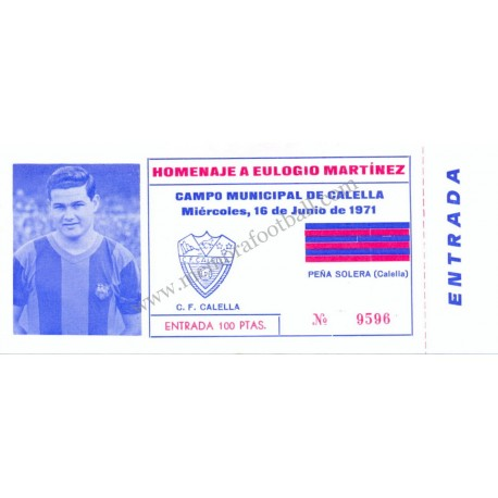 """Eulogio Martínez Testimonial Match"" 1971"
