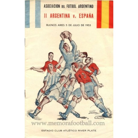 ARGENTINA vs ESPAÑA 05-07-1953