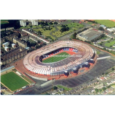 Hamdem, Park, estadio, Queen's, Park, tarjeta, postal