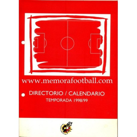 Directory - Calendar Spanish League 1998/1999