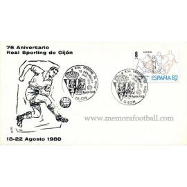 Sobre del 75 Aniversario Sporting de Gijón, 1980
