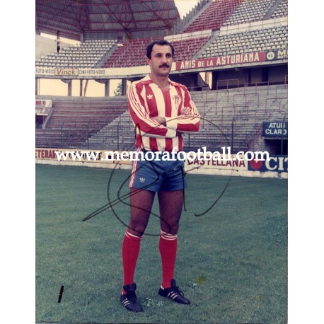 JOAQUÍN Sporting de Gijón 1970s, signed photo