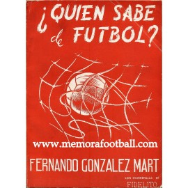 ¿Quien sabe de Fútbol?, 1958