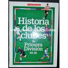 Historia de los clubes de Primera División, 94-95