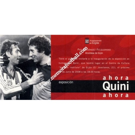"Tribute-Exhibition to ""QUINI"" 14 al 30 June 2008"