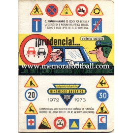 Spanish League 1ª Division 1972-1973 football calendar