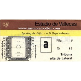 Rayo Vallecano vs Sporting de Gijón LFP 1979-1980