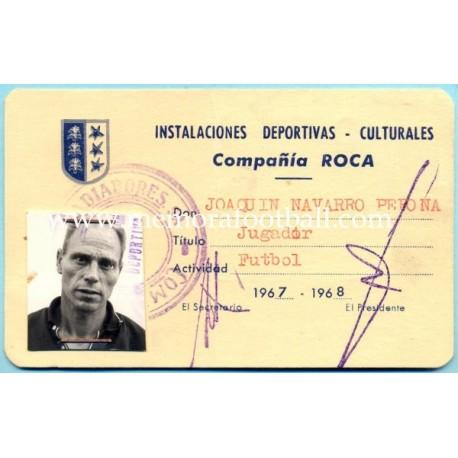 """CD Sabadell """"Joaquin Navarro"""" 1959-60"""