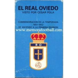 Real Oviedo 1951-1952 Recuerdo de la conmemoración del ascenso