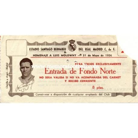 "Real Madrid v Vasco da Gama ""Homenaje a Molowny"" 31-05-1956"