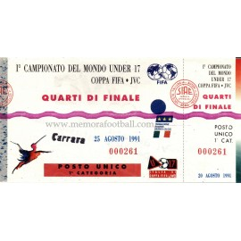 1991 FIFA U-17 World Championship Quarter Final ticket