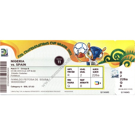 Spain vs Nigeria Confederations Cup 2013