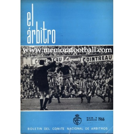 EL ÁRBITRO magazine 1966 nº9