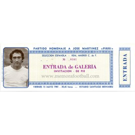 Pirri Testimonial Match 15-05-1981