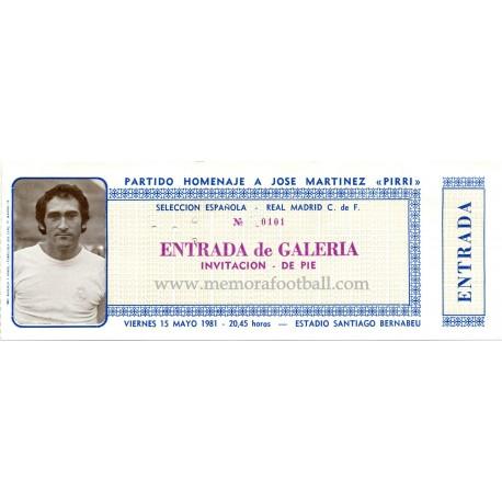 Partido Homenje a Pirri 15-05-1981
