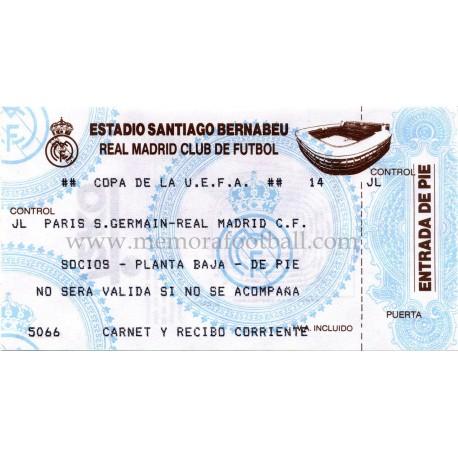Real Madrid vs Paris Saint- Germain 02-03-1993