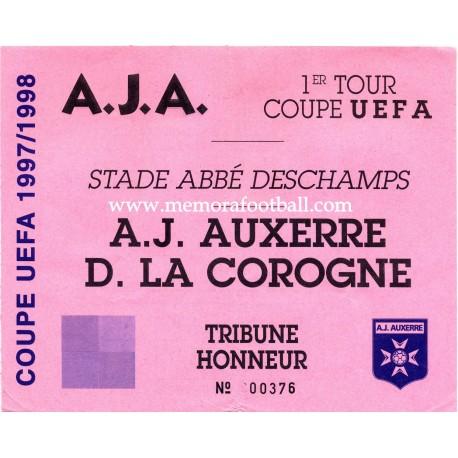 AJ Auxerre vs Deportivo de la Coruña UEFA Cup 1997-98