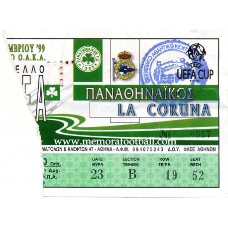 Panathinaikos vs Deportivo de la Coruña UEFA Cup 1999-00