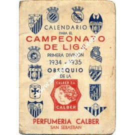 Spanish League 1934-35 football schedule