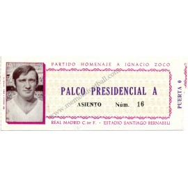 Ignacio Zoco Testimonial Match 28-08-1974