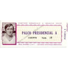Partido Homenaje a Ignacio Zoco 28-08-1974