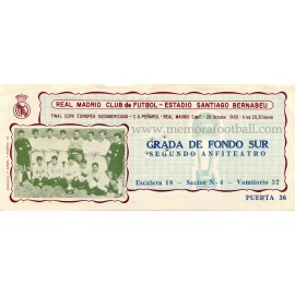Real Madrid v Peñarol 26-10-1966 ticket
