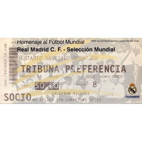 Real Madrid vs World XI - 2002 Centennial match
