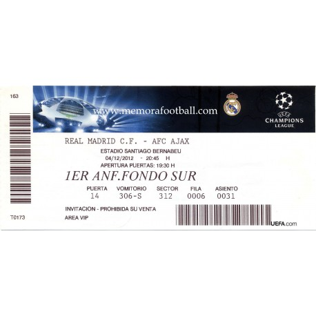 Real Madrid CF v AFC Ajax 2012-13 Champions League