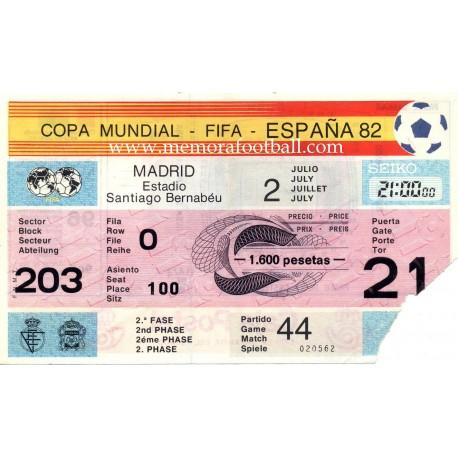 West Germany vs Spain WC1982
