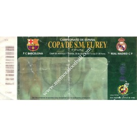 Real Madrid vs FC Barcelona 2011 Spanish FA Cup Final ticket