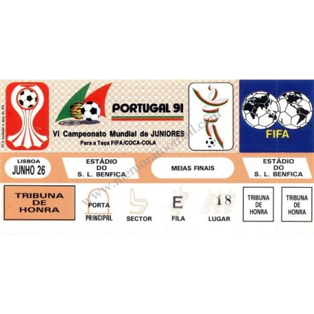 Portugal v Australia 1991 FIFA World Youth Championship