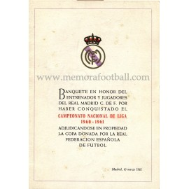 Real Madrid CF - Dinner tribute 16-03-1961
