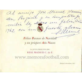 Real Madrid, 1961 Christmas card