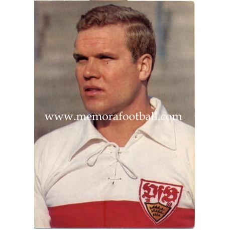 Klaus-Dieter Sieloff (VfB Stuttgart) 1960s postcard