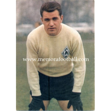Günter Bernard (Werder Bremen) 1960s postcard