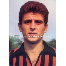 Gianni Rivera (AC Milan) 1960s postcard