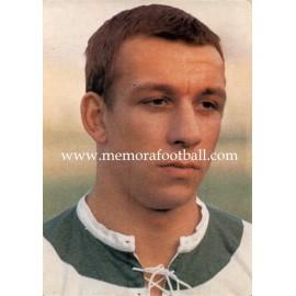Horst-Dieter Höttges (Werder Bremen) 1960s postcard