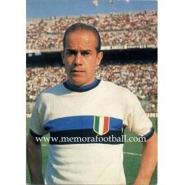Luis Suárez (Internazionale) 1960s postcard